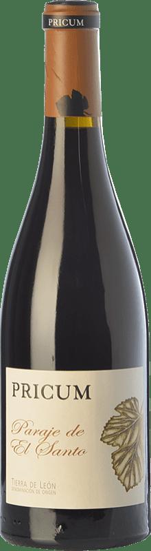 28,95 € | Red wine Margón Pricum Paraje de El Santo Crianza 2011 D.O. Tierra de León Castilla y León Spain Prieto Picudo Bottle 75 cl