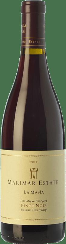 44,95 € 免费送货 | 红酒 Marimar Estate La Masía Joven I.G. Russian River Valley 俄罗斯河谷 美国 Pinot Black 瓶子 75 cl