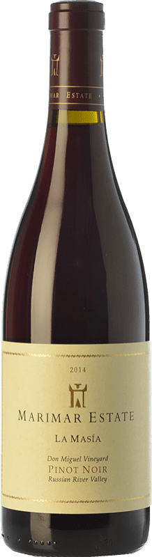 44,95 € Envío gratis | Vino tinto Marimar Estate La Masía Joven I.G. Russian River Valley Russian River Valley Estados Unidos Pinot Negro Botella 75 cl
