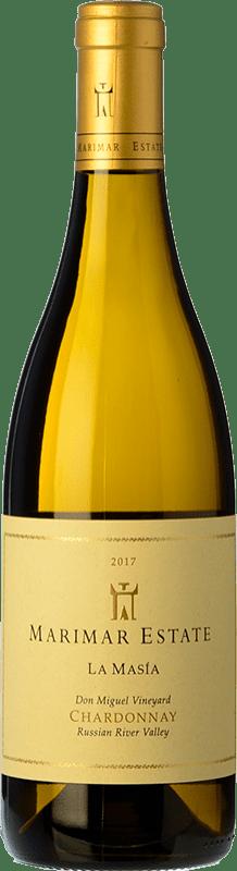 31,95 € 免费送货 | 白酒 Marimar Estate La Masía Crianza I.G. Russian River Valley 俄罗斯河谷 美国 Chardonnay 瓶子 75 cl
