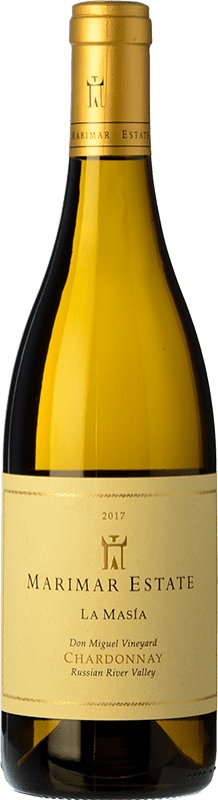 31,95 € Envío gratis | Vino blanco Marimar Estate La Masía Crianza I.G. Russian River Valley Russian River Valley Estados Unidos Chardonnay Botella 75 cl
