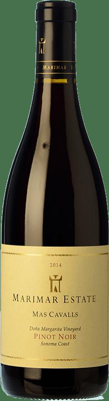 49,95 € 免费送货 | 红酒 Marimar Estate Mas Cavalls Crianza I.G. Sonoma Coast 索诺玛海岸 美国 Pinot Black 瓶子 75 cl