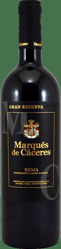 24,95 € 免费送货 | 红酒 Marqués de Cáceres Gran Reserva D.O.Ca. Rioja 拉里奥哈 西班牙 Tempranillo, Grenache, Graciano 瓶子 75 cl