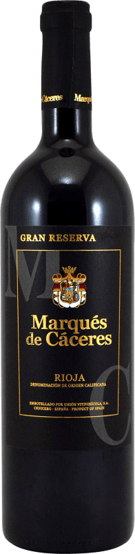 24,95 € Free Shipping | Red wine Marqués de Cáceres Gran Reserva D.O.Ca. Rioja The Rioja Spain Tempranillo, Grenache, Graciano Bottle 75 cl