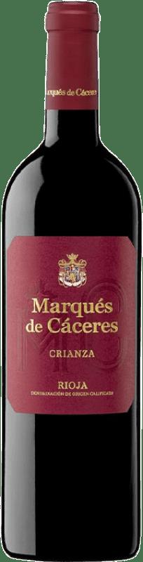 8,95 € 免费送货 | 红酒 Marqués de Cáceres Crianza D.O.Ca. Rioja 拉里奥哈 西班牙 Tempranillo, Grenache, Graciano 瓶子 75 cl
