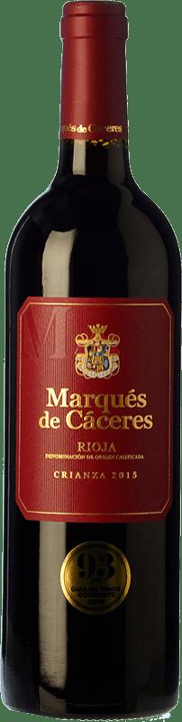 21,95 € 免费送货 | 红酒 Marqués de Cáceres Crianza D.O.Ca. Rioja 拉里奥哈 西班牙 Tempranillo, Grenache, Graciano 瓶子 Magnum 1,5 L