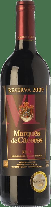 29,95 € 免费送货 | 红酒 Marqués de Cáceres Reserva D.O.Ca. Rioja 拉里奥哈 西班牙 Tempranillo, Grenache, Graciano 瓶子 Magnum 1,5 L