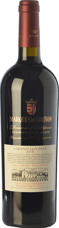 Free Shipping | Red wine Marqués de Griñón Crianza 2013 D.O.P. Vino de Pago Dominio de Valdepusa Castilla la Mancha Spain Cabernet Sauvignon Bottle 75 cl