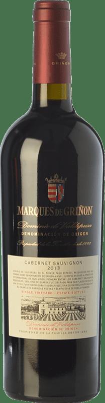 Envío gratis | Vino tinto Marqués de Griñón Crianza 2013 D.O.P. Vino de Pago Dominio de Valdepusa Castilla la Mancha España Cabernet Sauvignon Botella 75 cl