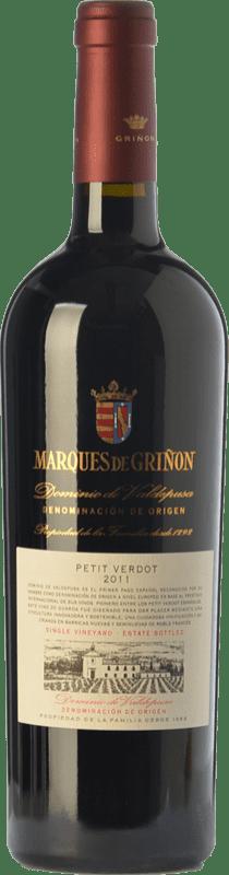 23,95 € Envío gratis | Vino tinto Marqués de Griñón Crianza D.O.P. Vino de Pago Dominio de Valdepusa Castilla la Mancha España Petit Verdot Botella 75 cl