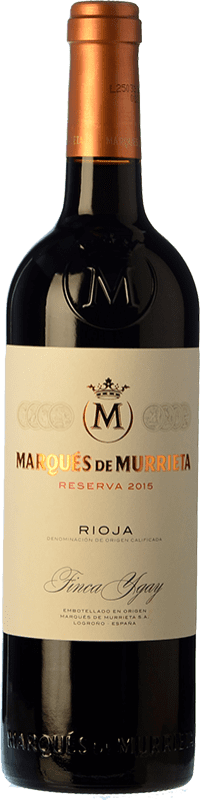 19,95 € Envoi gratuit | Vin rouge Marqués de Murrieta Reserva D.O.Ca. Rioja La Rioja Espagne Tempranillo, Grenache, Graciano, Mazuelo Bouteille 75 cl
