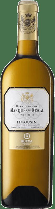 16,95 € 免费送货 | 白酒 Marqués de Riscal Limousin Crianza D.O. Rueda 卡斯蒂利亚莱昂 西班牙 Verdejo 瓶子 75 cl