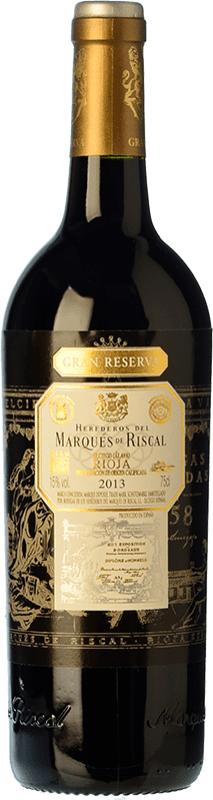 45,95 € Free Shipping | Red wine Marqués de Riscal Gran Reserva D.O.Ca. Rioja The Rioja Spain Tempranillo Bottle 75 cl