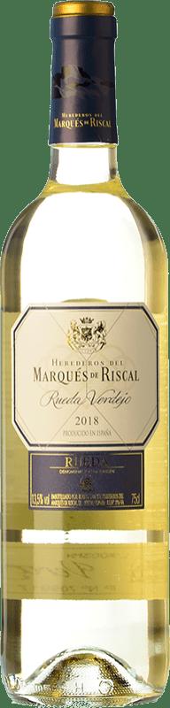8,95 € 免费送货 | 白酒 Marqués de Riscal D.O. Rueda 卡斯蒂利亚莱昂 西班牙 Verdejo 瓶子 75 cl