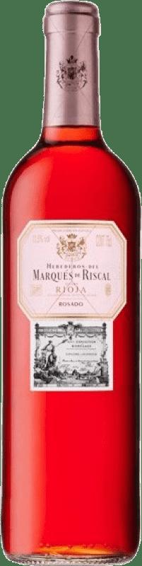 7,95 € Spedizione Gratuita | Vino rosato Marqués de Riscal D.O.Ca. Rioja La Rioja Spagna Tempranillo, Grenache Bottiglia 75 cl