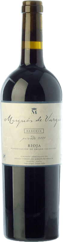 51,95 € | Red wine Marqués de Vargas Reserva Privada Reserva 2007 D.O.Ca. Rioja The Rioja Spain Tempranillo, Grenache, Mazuelo Bottle 75 cl