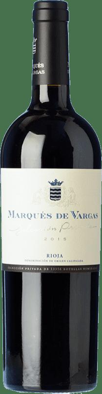 51,95 € Envoi gratuit | Vin rouge Marqués de Vargas Reserva Privada Reserva D.O.Ca. Rioja La Rioja Espagne Tempranillo, Grenache, Mazuelo Bouteille 75 cl