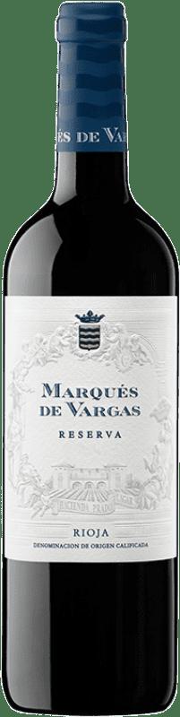 23,95 € Envío gratis | Vino tinto Marqués de Vargas Reserva D.O.Ca. Rioja La Rioja España Tempranillo, Garnacha, Mazuelo Botella 75 cl