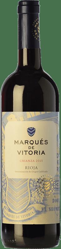 7,95 € Envoi gratuit | Vin rouge Marqués de Vitoria Crianza D.O.Ca. Rioja La Rioja Espagne Tempranillo Bouteille 75 cl