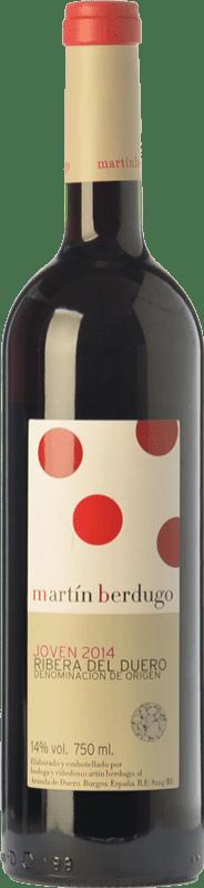 7,95 € Envío gratis | Vino tinto Martín Berdugo Joven D.O. Ribera del Duero Castilla y León España Tempranillo Botella 75 cl