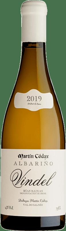 36,95 € 免费送货 | 白酒 Martín Códax Vindel Crianza D.O. Rías Baixas 加利西亚 西班牙 Albariño 瓶子 75 cl