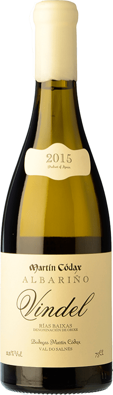 36,95 € Envoi gratuit | Vin blanc Martín Códax Vindel Crianza D.O. Rías Baixas Galice Espagne Albariño Bouteille 75 cl