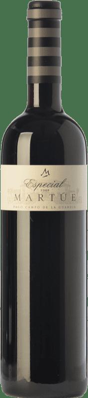 17,95 € | Red wine Martúe Especial Crianza D.O.P. Vino de Pago Campo de la Guardia Castilla la Mancha Spain Merlot, Syrah, Cabernet Sauvignon Bottle 75 cl
