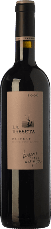64,95 € Free Shipping | Red wine Mas Alta La Basseta Crianza D.O.Ca. Priorat Catalonia Spain Merlot, Syrah, Grenache, Carignan Bottle 75 cl