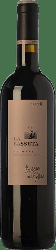 163,95 € 免费送货 | 红酒 Mas Alta La Basseta Crianza D.O.Ca. Priorat 加泰罗尼亚 西班牙 Merlot, Syrah, Grenache, Carignan 瓶子 Magnum 1,5 L