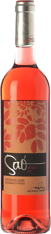 11,95 € 免费送货   玫瑰酒 Blanch i Jové Saó Rosat D.O. Costers del Segre 加泰罗尼亚 西班牙 Syrah, Grenache 瓶子 75 cl