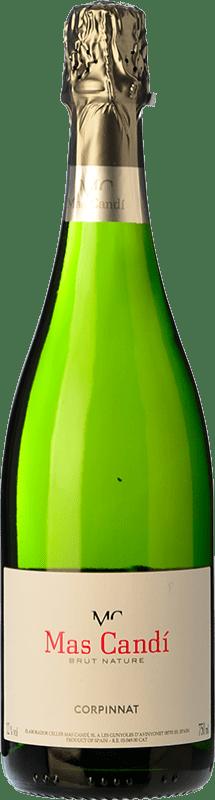 11,95 € 免费送货 | 白起泡酒 Mas Candí Brut Nature Reserva D.O. Cava 加泰罗尼亚 西班牙 Macabeo, Xarel·lo, Parellada 瓶子 75 cl