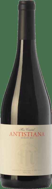 13,95 € Envío gratis | Vino tinto Mas Comtal Antistiana Crianza D.O. Penedès Cataluña España Merlot Botella 75 cl
