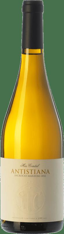 17,95 € Envío gratis | Vino blanco Mas Comtal Antistiana Incrocio Manzoni D.O. Penedès Cataluña España Incroccio Manzoni Botella 75 cl