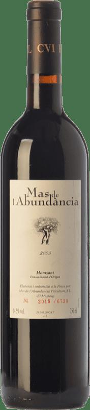 18,95 € Free Shipping | Red wine Mas de l'Abundància Crianza D.O. Montsant Catalonia Spain Grenache, Cabernet Sauvignon, Carignan Bottle 75 cl
