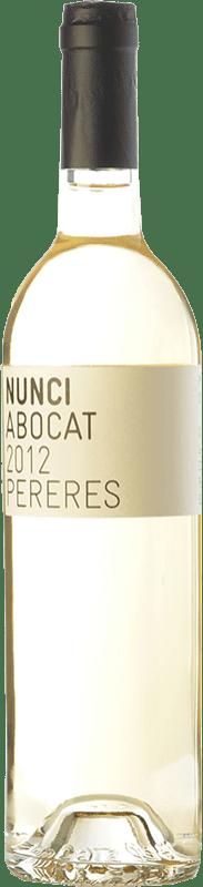 19,95 € Envío gratis | Vino blanco Mas de les Pereres Nunci Abocat D.O.Ca. Priorat Cataluña España Garnacha Blanca, Moscatel de Alejandría, Macabeo Botella 75 cl