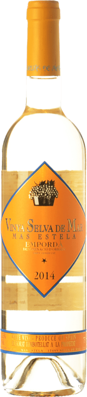 23,95 € Free Shipping | White wine Mas Estela Vinya Selva de Mar Blanc Crianza D.O. Empordà Catalonia Spain Grenache Grey, Muscat of Alexandria Bottle 75 cl