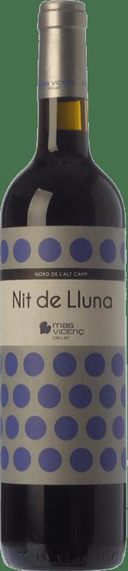 13,95 € Envío gratis | Vino tinto Mas Vicenç Nit de Lluna Crianza D.O. Tarragona Cataluña España Tempranillo, Syrah Botella 75 cl