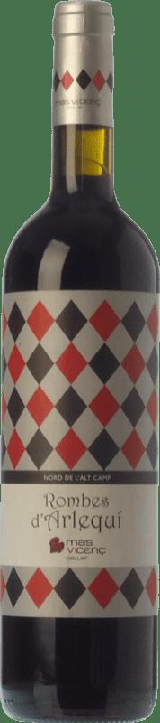 19,95 € Envío gratis | Vino tinto Mas Vicenç Rombes d'Arlequí Crianza D.O. Tarragona Cataluña España Tempranillo, Cabernet Sauvignon Botella 75 cl