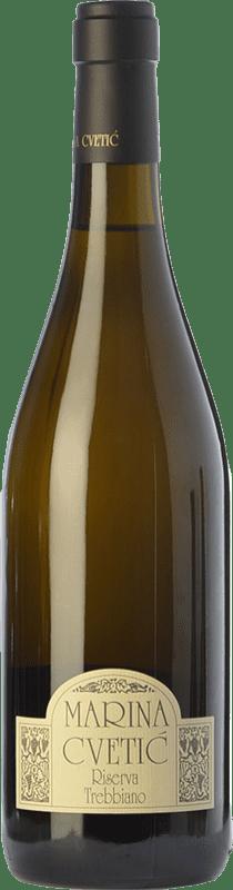 39,95 € 免费送货 | 白酒 Masciarelli Marina Cvetic D.O.C. Trebbiano d'Abruzzo 阿布鲁佐 意大利 Trebbiano d'Abruzzo 瓶子 75 cl