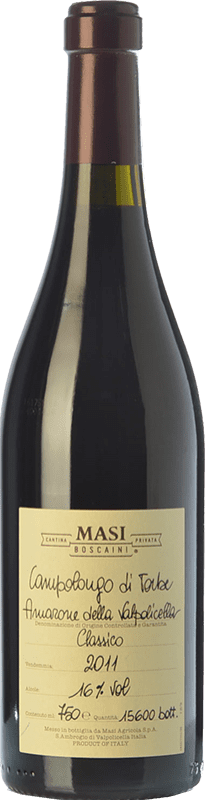 124,95 € Envoi gratuit | Vin rouge Masi Campolongo di Torbe D.O.C.G. Amarone della Valpolicella Vénétie Italie Corvina, Rondinella, Molinara Bouteille 75 cl