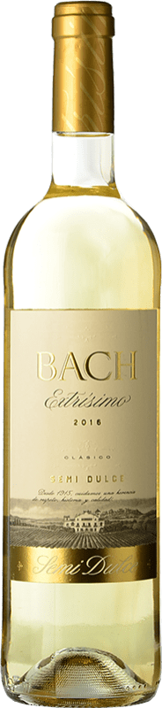3,95 € Free Shipping | White wine Bach Extrísimo Semi Dry Joven D.O. Catalunya Catalonia Spain Macabeo, Xarel·lo Bottle 75 cl