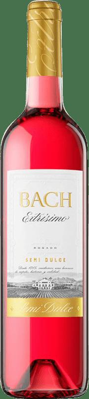 5,95 € Free Shipping | Rosé wine Bach Extrísimo Semi Dry Joven D.O. Catalunya Catalonia Spain Tempranillo, Merlot, Cabernet Sauvignon Bottle 75 cl