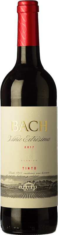 3,95 € Free Shipping | Red wine Bach Viña Extrísima Joven D.O. Catalunya Catalonia Spain Tempranillo, Merlot, Cabernet Sauvignon Bottle 75 cl