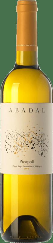 11,95 € Envío gratis | Vino blanco Masies d'Avinyó Abadal D.O. Pla de Bages Cataluña España Picapoll Botella 75 cl