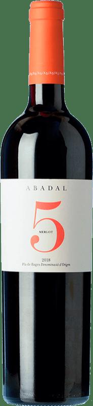 19,95 € Envío gratis | Vino tinto Masies d'Avinyó Abadal 5 Crianza D.O. Pla de Bages Cataluña España Merlot Botella 75 cl
