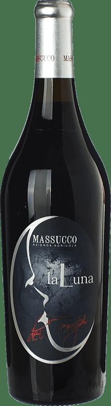 19,95 € Free Shipping | Red wine Massucco La Luna dei Tempi D.O.C. Piedmont Piemonte Italy Barbera Bottle 75 cl