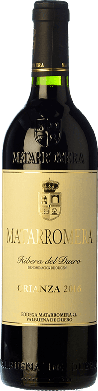 19,95 € 免费送货 | 红酒 Matarromera Crianza D.O. Ribera del Duero 卡斯蒂利亚莱昂 西班牙 Tempranillo 瓶子 75 cl