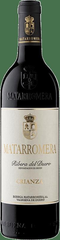 19,95 € Envoi gratuit | Vin rouge Matarromera Crianza D.O. Ribera del Duero Castille et Leon Espagne Tempranillo Bouteille 75 cl