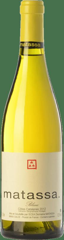 38,95 € | White wine Matassa Blanc Crianza I.G.P. Vin de Pays Côtes Catalanes Languedoc-Roussillon France Grenache Grey, Macabeo Bottle 75 cl
