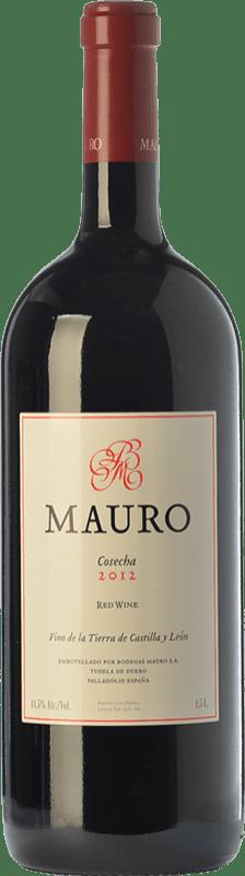 29,95 € Envío gratis | Vino tinto Mauro Crianza I.G.P. Vino de la Tierra de Castilla y León Castilla y León España Tempranillo, Syrah Botella Mágnum 1,5 L